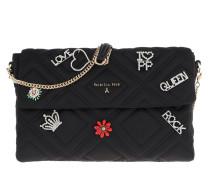 Quilted Shoulder Bag Satin Black Tasche
