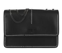 Chain Crossbody Bag Black/Shiny Crystal Tasche