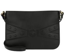 Umhängetasche Leather Crossbody Pochette Nero/Oro Tribute schwarz