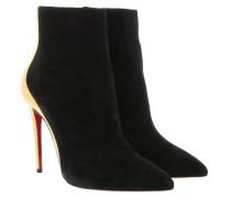 Boots Delicotte Veau Velours/Specchio 100 Black/Gold schwarz