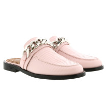 Chain Loafers Leather Light Pink Schuhe