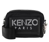 Umhängetasche Nylon With Sport Logo Print Shoulder Bag Black schwarz