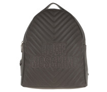 Quilted Logo Backpack Taupe Rucksack