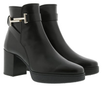 Double T Ankle Boots Leather Black Schuhe