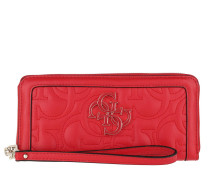 Portemonnaie New Wave Large Zip Around Wallet Red rot