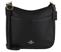 Polished Pebble Leather Chaise Crossbody Black Tasche