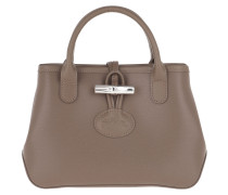 Umhängetasche Roseau Crossbody Bag Leather Taupe braun