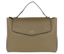 Ella Top Handle Flap Olive Satchel Bag