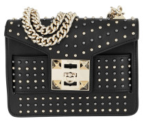 Mila Star Studded Metal Chain Shoulder Bag Black