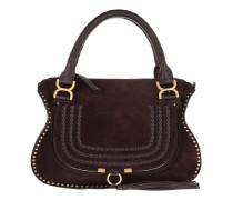 Marcie Medium Shoulder Bag Suede Carbon Brown Tote