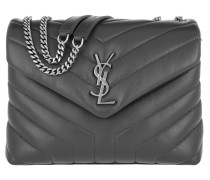LouLou S Shoulder Bag Quilted Leather Storm Tasche