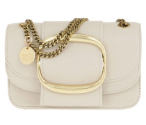 Umhängetasche Hopper Shoulder Bag Small Leather Cement Beige beige