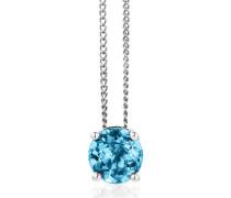 Halskette 14KT Blue Topaz Necklace White Gold