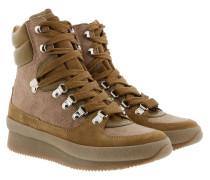 Brendty Boots Contrast Laces Khaki Schuhe