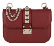Rockstud Lock Shoulder Bag Small Ruby Tasche