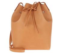 Beuteltasche Classic Bucket Bag Cammello/Rosa braun