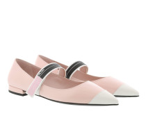 Bicolor Brushed Ballerinas Calf Leather Orchidea/Talco Ballerinas