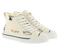 Sneakers Archive Logo Cotton High Top Sneakers Off White beige