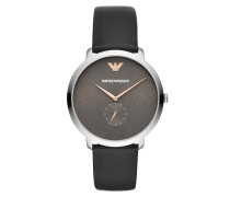 Uhr Dress Mens Watch Silver schwarz