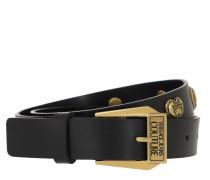 Gürtel Belt Golden Heart Studs Black