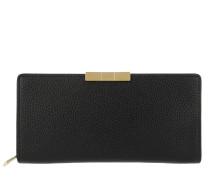 Emblyn Bow Sunken Zip Wallet Black