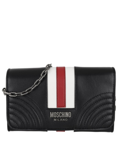 Moschino Damen Striped Wallet on a Chain Multicolour Tasche Preiswerte Neue Große Überraschung Günstiger Preis Shop-Angebot Zum Verkauf Verkauf Versorgung GRnnXrRfd9