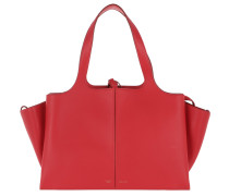 Tri-Fold Medium Shopper Bright Red
