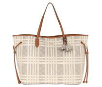 Shopper Cortina Cheque Lara Shopping Bag Beige grau