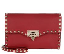 Rockstud Medium Shoulder Bag Leather Red Tasche
