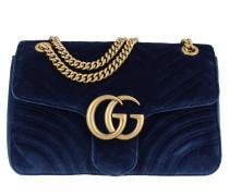 Umhängetasche GG Marmont Medium Velvet Shoulder Bag Cobalt blau