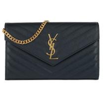 Monogramme Chain Wallet Blue Satchel Bag