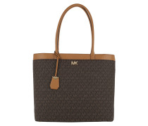 Maddie LG NS Pocket Tote Brown Tote