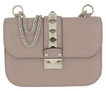 Rockstud Small Leather Shoulder Bag Poudre Tasche