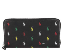 Portemonnaie Small Long Zip Wallet Black Multi