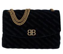 Round Chain L Shoulder Bag Velvet Midnight Tasche