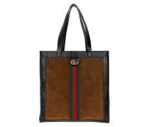 Ophidia Suede Large Tote Chestnut Tote