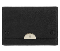 Romy Wallet Leather Black Portemonnaie
