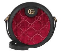 Umhängetasche GG Round Shoulder Bag Velvet Red schwarz
