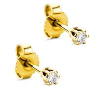 Ohrringe 14KT Diamond Earrings Yellow Gold