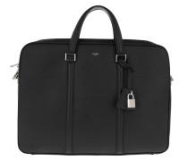Herrentasche Medium Briefcase Grained Calfskin Black