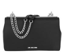 Borsa Calf Pu Nero + Tpu Double Chain Shoulder Bag Peltro