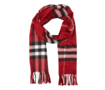 Accessoire Icon Check Scarf Cashmere Parade Red rot