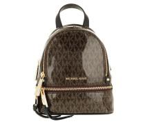 Rucksack Rhea Zip XS Messenger Backpack Brown/Gold braun