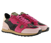 Valentino Sneaker Leather Army Green/Disco Pink Sneakers