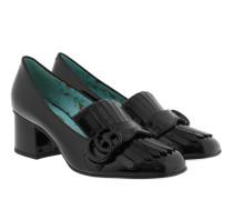 Marmont Patent Leather Mid-Heel Pump Black Pumps