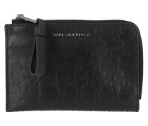 Portemonnaie Kameo Zip Card Holder Black
