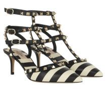 Rockstud Studded Ankle 3 Strap Light Ivory/Nero Pumps