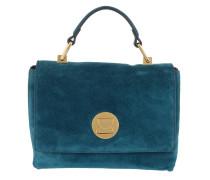 Liya Suede Crossbody Bag Saphir Satchel Bag