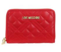 Portemonnaie Portafogli Quilted Nappa Wallet Rosso