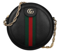 Umhängetasche Ophidia Mini Round Shoulder Bag Leather Black